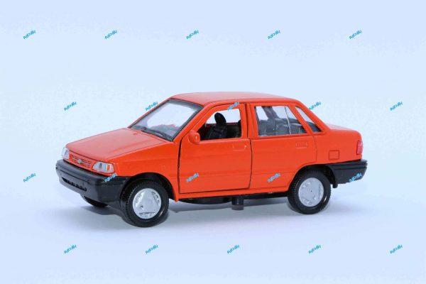 ماشین فلزی پراید صندوقدار نارنجی