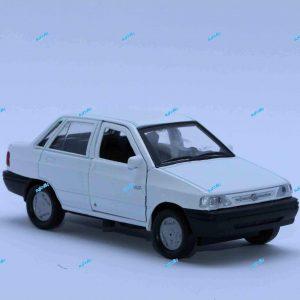ماشین فلزی پراید صندوقدار سفید