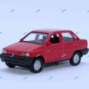 ماشین فلزی پراید صندوقدار قرمز متالیک