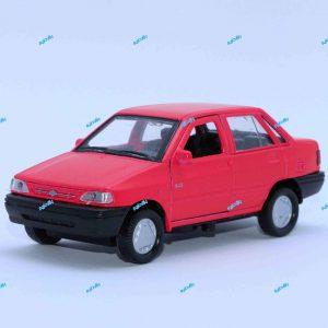 ماشین فلزی پراید صندوقدار قرمز