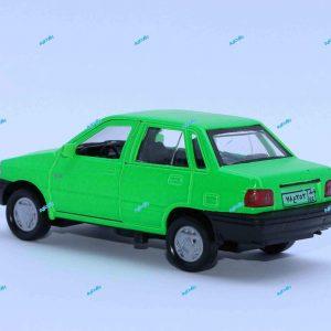ماشین فلزی پراید صندوقدار سبز فسفری
