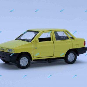 ماشین فلزی پراید صندوقدار زرد