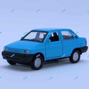 ماشین فلزی پراید صندوقدار آبی فیروزهای