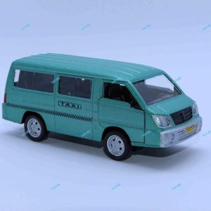 ماشین فلزی ون تاکسی سبز آبی متالیک