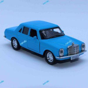 ماشین فلزی بنز کلاسیک آبی فیروزهای